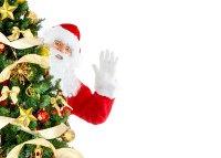 Claus und Weihnachtsbaum